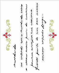 Stencil 20X25 Simples – Poema Saudade – OPA 1387