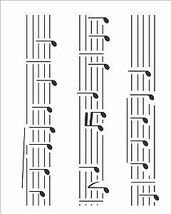 Stencil 20×25 Simples – Notas Musicais – OPA 2074