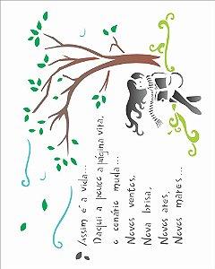 Stencil 20×25 Simples – Poema Vida – OPA 1336
