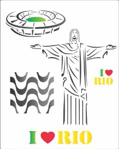 Stencil 20×25 Simples – Cidades Rio de Janeiro – OPA 1238