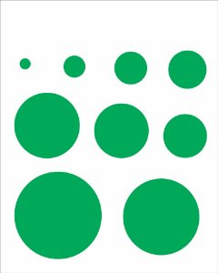 Stencil 20×25 Simples – Círculos – OPA 516