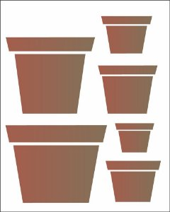 Stencil 20×25 Simpes – Vasos – OPA 1457