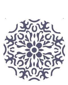 Stencil 20×25 Simples – Mandala I Camada II – OPA 2281
