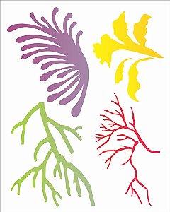 Stencil 20×25 Simples – Corais – OPA 2055