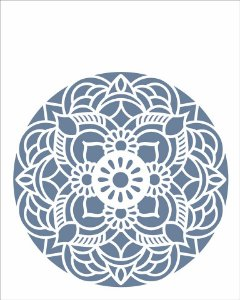 Stencil 20×25 Simples – Mandala Flor Redonda – OPA 2460