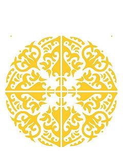 Stencil 20×25 Simples – Mandala III Camada II – OPA 2285