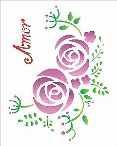 Stencil 20×25 Simples – Flores Retrô – OPA 1407