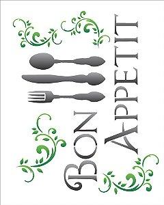 Stencil 20×25 Simples – Bon Appetit – OPA 1153