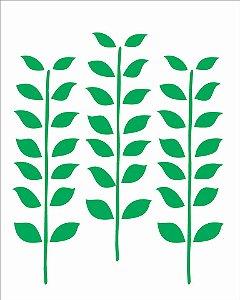 Stencil 20X25 Simples – Estampa Folhas – OPA 1770