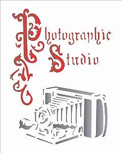Stencil 20X25 Simples – camera antiga – OPA 1764