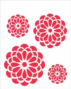 Stencil 20×25 Simples – Flores Redondas – OPA 1245