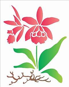 Stencil 20×25 Simpes – Orquidea – OPA 1452