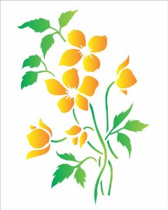 Stencil 20×25 Simples – Flor do Campo – OPA 1405