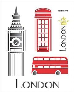 Stencil 20×25 Simples – Cidades London – OPA 1161