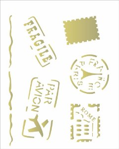 Stencil 20×25 Simples – Selos e Carimbos – OPA2083