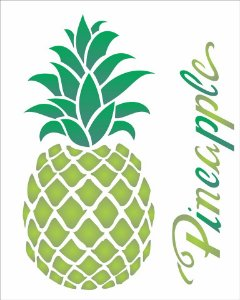 Stencil 20×25 Simples – Fruta Abacaxi – OPA 1829