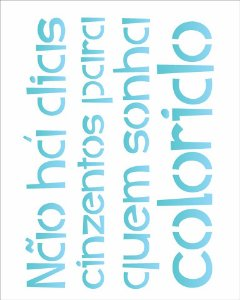 Stencil 20×25 Simples – Frase Incentivo – OPA 2185