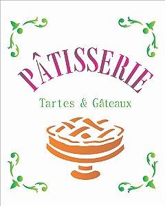 Stencil 20X25 Simples –Patisserie Tartes e Gateaux– OPA 1784