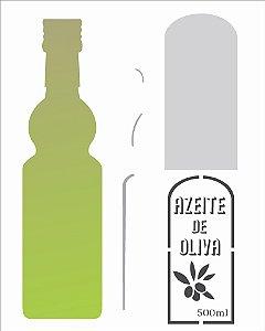 Stencil 20×25 Simples – Garrafa Azeite – OPA 2066