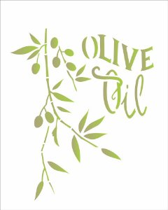 Stencil 20×25 Simples – Oliva – OPA 1830
