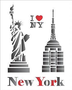 Stencil 20×25 Simples – Cidades New York – OPA 1162