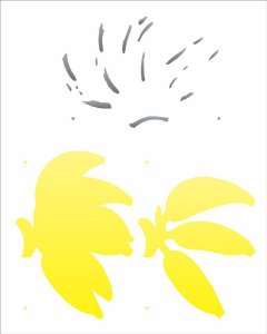 Stencil 20×25 Simples – Cacho de Banana – OPA 2053