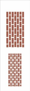Stencil 10×30 Simples – Tijolos – OPA052
