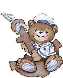 APM8-056 - Aplique Em Papel E MDF - Urso Marinheiro