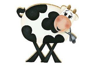APM8-004 - Aplique Em Papel E MDF - Vaca Sino