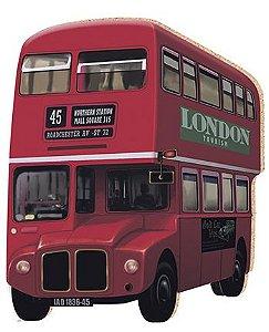 APM8-091 - Aplique Em Papel E MDF - Ônibus Londres