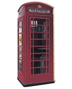 APM8-092 - Aplique Em Papel E MDF - Cabine Telefônica Londres
