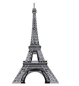 APM8-533 - Aplique Em Papel E MDF - Torre Eiffel Prata