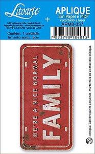 APM8-337 - Aplique Em Papel E MDF - Family