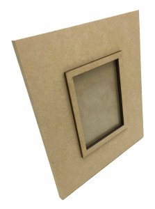 Porta Retrato MDF Com Moldura e Vidro 24x22 cm
