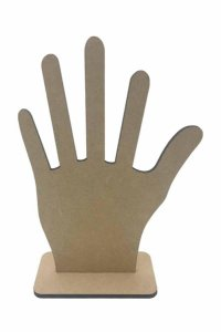 Porta Anel MDF Mão Com Base 20x11 cm