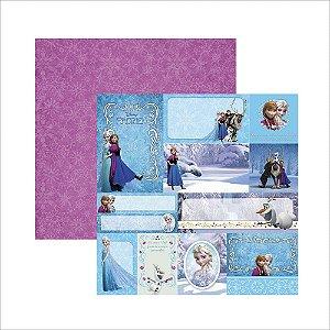 Folha para Scrapbook Dupla Face Disney Toke e Crie Frozen 2 Tags - 19686 - SDFD102