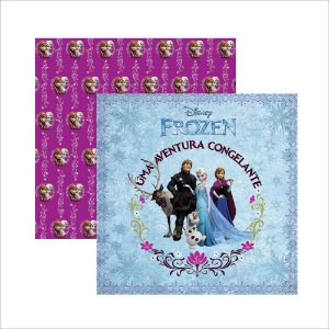 Folha para Scrapbook Dupla Face Disney Toke e Crie Frozen 1 Guirlanda - 19335 - SDFD041