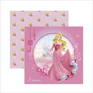 Folha para Scrapbook Dupla Face Disney Toke e Crie Aurora 1 Guirlanda - 20712 - SDFD141