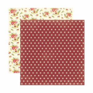 Folha para Scrapbooking Dupla Face Toke e Crie Floral Poá by Ivana Madi - 20654 - SDF808