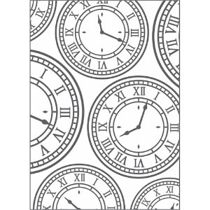 Placa para Relevo 2D Elegance Relógio Vintage I 20927 PPR013