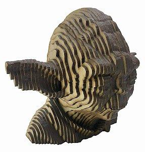 Rosto Busto Mestre Yoda MDF A Laser Decoração 15 cm