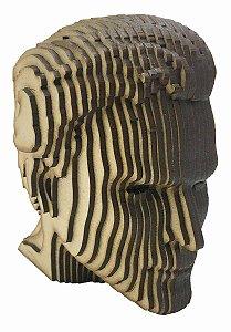 Rosto Busto Superman MDF A Laser Decoração 15 cm