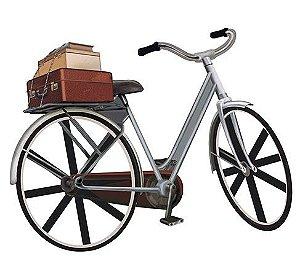 APM8-542 - Aplique Litoarte Em Papel E MDF - Bicicleta Malas