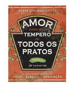 APM8-759 - Aplique Litoarte Em Papel E MDF - Rót. Amor Principal Tempero