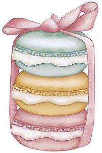 APM8-943 - Aplique Litoarte Em Papel E MDF - Macarons Coloridos