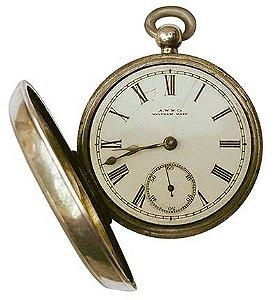 APM8-958 - Aplique Litoarte Em Papel E MDF - Relógio De Bolso Aberto Vintage