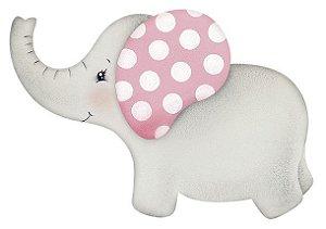 APM8-891 - Aplique Litoarte Em Papel E MDF - Elefantinha Bebê