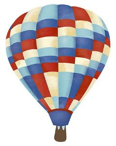 APM8-888 - Aplique Litoarte Em Papel E MDF - Balão