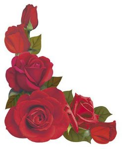 APM8-984 - Aplique Litoarte Em Papel E MDF - Cantoneira Rosas Vermelha