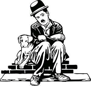 APM8-1155 - Aplique Litoarte Em Papel E MDF - Charlie Chaplin